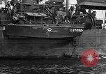 Image of loaded LST English Channel, 1944, second 33 stock footage video 65675051834