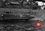 Image of loaded LST English Channel, 1944, second 35 stock footage video 65675051834