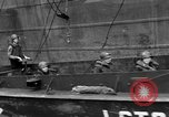 Image of loaded LST English Channel, 1944, second 51 stock footage video 65675051834