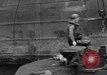 Image of loaded LST English Channel, 1944, second 54 stock footage video 65675051834