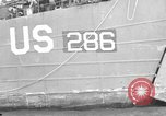 Image of loaded LST English Channel, 1944, second 57 stock footage video 65675051834