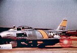 Image of F 86F aircraft Korea, 1953, second 55 stock footage video 65675051867
