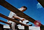 Image of Construction of Officer's Club at Alto Air Base Corsica France , 1944, second 29 stock footage video 65675051899