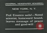 Image of Albert Einstein in United States New York City USA, 1931, second 6 stock footage video 65675051983