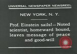 Image of Albert Einstein in United States New York City USA, 1931, second 9 stock footage video 65675051983