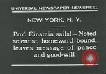 Image of Albert Einstein in United States New York City USA, 1931, second 12 stock footage video 65675051983