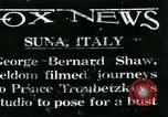 Image of George Bernard Shaw Suna Italy, 1926, second 1 stock footage video 65675051998