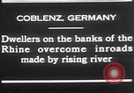 Image of Rhine flooded streets of Koblenz Koblenz Germany, 1930, second 3 stock footage video 65675052008