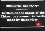 Image of Rhine flooded streets of Koblenz Koblenz Germany, 1930, second 4 stock footage video 65675052008