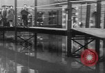 Image of Rhine flooded streets of Koblenz Koblenz Germany, 1930, second 31 stock footage video 65675052008
