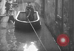 Image of Rhine flooded streets of Koblenz Koblenz Germany, 1930, second 39 stock footage video 65675052008