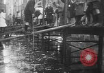 Image of Rhine flooded streets of Koblenz Koblenz Germany, 1930, second 43 stock footage video 65675052008
