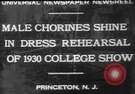 Image of male chorines Princeton New Jersey USA, 1930, second 1 stock footage video 65675052009