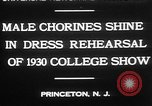 Image of male chorines Princeton New Jersey USA, 1930, second 3 stock footage video 65675052009