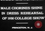 Image of male chorines Princeton New Jersey USA, 1930, second 4 stock footage video 65675052009