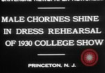 Image of male chorines Princeton New Jersey USA, 1930, second 5 stock footage video 65675052009