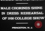Image of male chorines Princeton New Jersey USA, 1930, second 7 stock footage video 65675052009