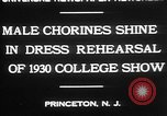 Image of male chorines Princeton New Jersey USA, 1930, second 8 stock footage video 65675052009