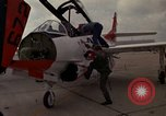 Image of aircraft T 2C Beeville Texas Naval Air Station Chase Field USA, 1982, second 14 stock footage video 65675052112