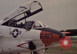 Image of aircraft T-2C Beeville Texas Naval Air Station Chase Field USA, 1982, second 57 stock footage video 65675052114