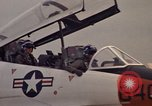 Image of aircraft T-2C Beeville Texas Naval Air Station Chase Field USA, 1982, second 59 stock footage video 65675052114