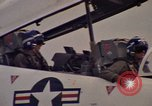 Image of aircraft T-2C Beeville Texas Naval Air Station Chase Field USA, 1982, second 60 stock footage video 65675052114