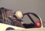 Image of aircraft T-2C Beeville Texas Naval Air Station Chase Field USA, 1982, second 62 stock footage video 65675052115