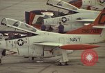 Image of aircraft T-2Cs Beeville Texas Naval Air Station Chase Field USA, 1982, second 11 stock footage video 65675052117