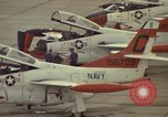 Image of aircraft T-2Cs Beeville Texas Naval Air Station Chase Field USA, 1982, second 13 stock footage video 65675052117