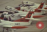 Image of aircraft T-2Cs Beeville Texas Naval Air Station Chase Field USA, 1982, second 14 stock footage video 65675052117