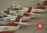 Image of aircraft T-2Cs Beeville Texas Naval Air Station Chase Field USA, 1982, second 15 stock footage video 65675052117