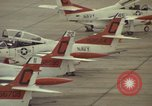 Image of aircraft T-2Cs Beeville Texas Naval Air Station Chase Field USA, 1982, second 16 stock footage video 65675052117