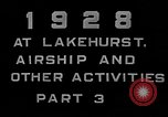 Image of LZ-127 Graf Zeppelin airship Lakehurst New Jersey USA, 1928, second 14 stock footage video 65675052188