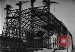 Image of newly constructed airship hangar Friedrichshafen Germany, 1929, second 13 stock footage video 65675052216