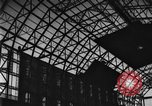 Image of newly constructed airship hangar Friedrichshafen Germany, 1929, second 16 stock footage video 65675052216