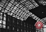 Image of newly constructed airship hangar Friedrichshafen Germany, 1929, second 17 stock footage video 65675052216