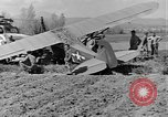 Image of Crashed Piper Cub (L-4) airplane prepared for towing Italy, 1944, second 46 stock footage video 65675052267