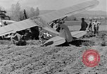 Image of Crashed Piper Cub (L-4) airplane prepared for towing Italy, 1944, second 47 stock footage video 65675052267