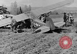 Image of Crashed Piper Cub (L-4) airplane prepared for towing Italy, 1944, second 49 stock footage video 65675052267