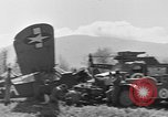 Image of Crashed Piper Cub (L-4) airplane prepared for towing Italy, 1944, second 58 stock footage video 65675052267