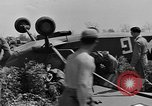 Image of Inverted US Army Stinson L-5 plane on field Italy, 1944, second 34 stock footage video 65675052268