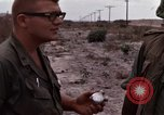 Image of United States officer Vietnam Bien Hoa Air Base, 1968, second 46 stock footage video 65675052304