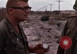 Image of United States officer Vietnam Bien Hoa Air Base, 1968, second 49 stock footage video 65675052304