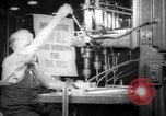 Image of war production workers at aircraft factory Long Beach California USA, 1942, second 3 stock footage video 65675052407