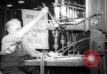 Image of war production workers at aircraft factory Long Beach California USA, 1942, second 4 stock footage video 65675052407