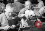 Image of war production workers at aircraft factory Long Beach California USA, 1942, second 28 stock footage video 65675052407