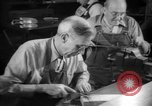 Image of war production workers at aircraft factory Long Beach California USA, 1942, second 46 stock footage video 65675052407