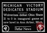 Image of First football game in 1927 at new Michigan Stadium Ann Arbor Michigan USA, 1927, second 5 stock footage video 65675052490
