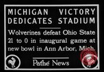 Image of First football game in 1927 at new Michigan Stadium Ann Arbor Michigan USA, 1927, second 6 stock footage video 65675052490