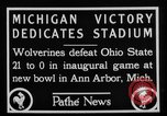 Image of First football game in 1927 at new Michigan Stadium Ann Arbor Michigan USA, 1927, second 7 stock footage video 65675052490